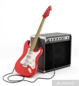 7 elektische gitaren met versterkers beschikbaar